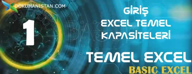 Temel Excel Giriş - Excel Kapasiteleri