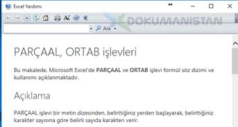 Excel Parça Al Yardım Ekranı-1