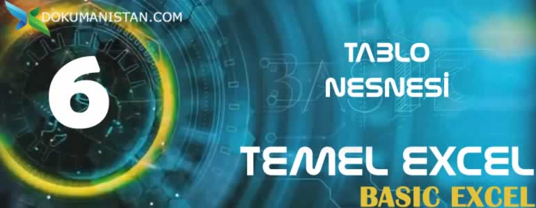 Excel Tablo Nesnesi