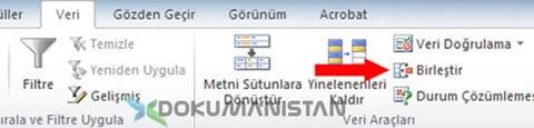 Excel Veri Birleştir Daha Consolide Veri Birleştir