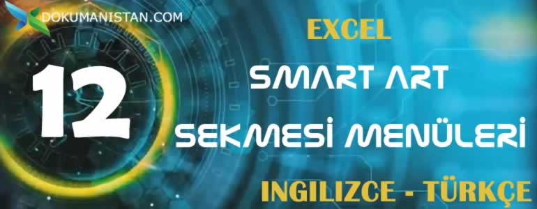 Excel Smartart Sekmesi Menüleri İngilizce Türkçe