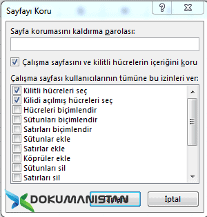 gozden gecir sayfayi koru - Excel Gözden Geçir - Review Sekmesi Türkçe İngilizce