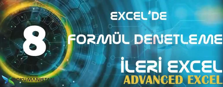 Excel Formül Denetleme Başlığı