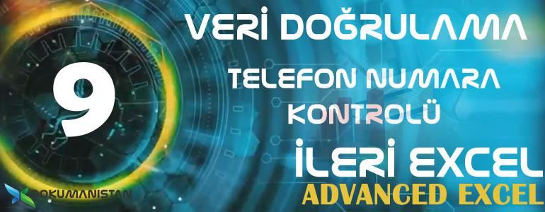 Veri Doğrulama ile Telefon Numara Kontrolünü Sağlamak