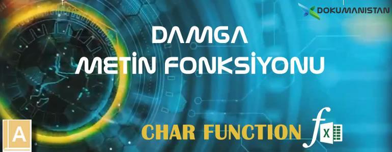 Excel DAMGA - CHAR Fonksiyonu