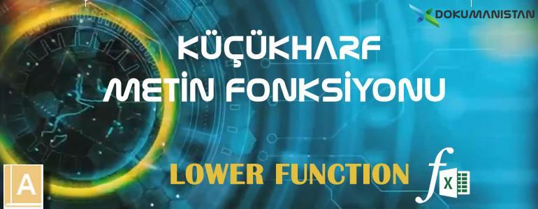 Excel KÜÇÜKHARF - LOWER Fonksiyonu