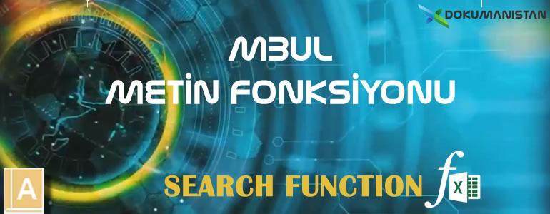 Excel MBUL - SEARCH Fonksiyonu