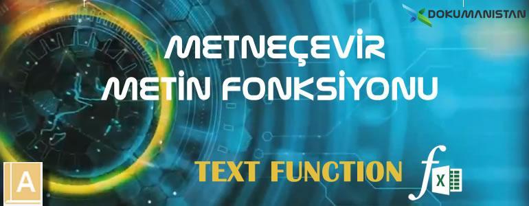 Excel METNEÇEVİR - TEXT Fonksiyonu