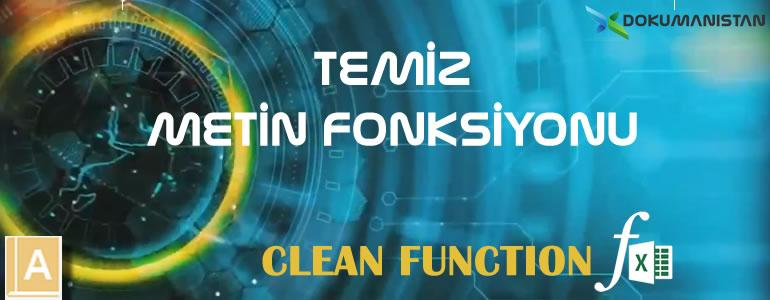 TEMİZ - CLEAN Fonksiyonu