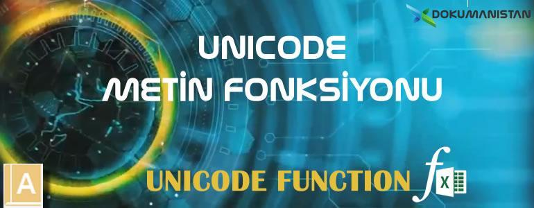 Excel UNICODE Fonksiyonu