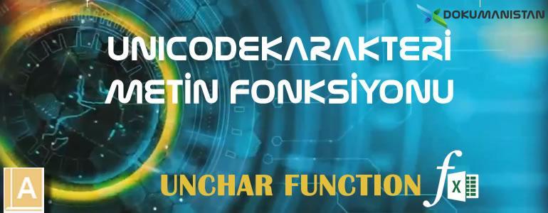 Excel UNICODEKARAKTERI Fonksiyonu
