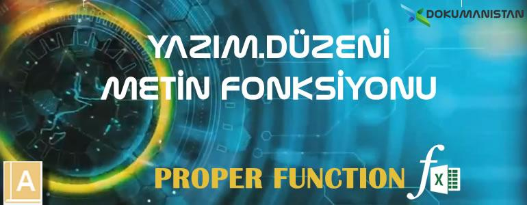 Excel YAZIM.DÜZENİ - PROPER Fonksiyonu