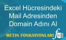 Excel Hücresindeki Mail Adresinden Domain Adını Al
