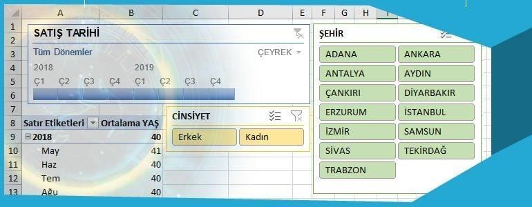 Excel Dilimleyici - Zaman Çizelgesi