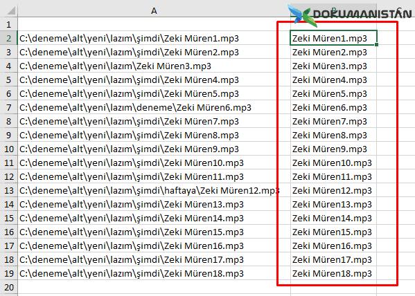 Dosya Path Temizleme En hızlı Yolu Hızlı Doldurma İşlemi