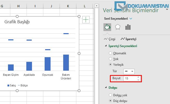 Çizgi Grafik Boyutlarını Artırma