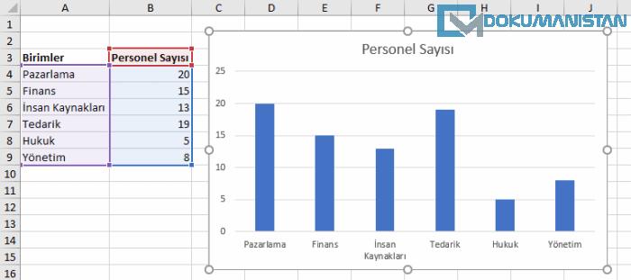 Excel Çubuk Grafik Birimi Öğeleri Anlatımı