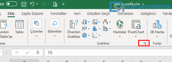 Excel Tüm Grafikler Seçimi