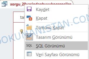 SQL Görünümü