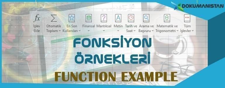 Excel Fonksiyon Örnekleri